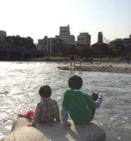 鴨川水遊び