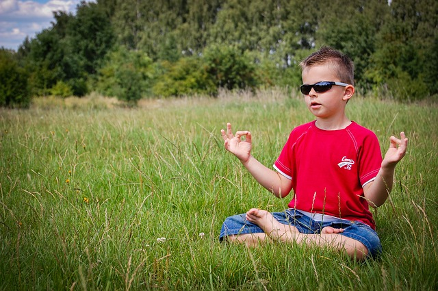 瞑想して気を高める