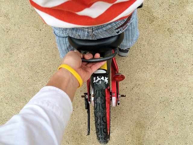 子供と自転車の練習