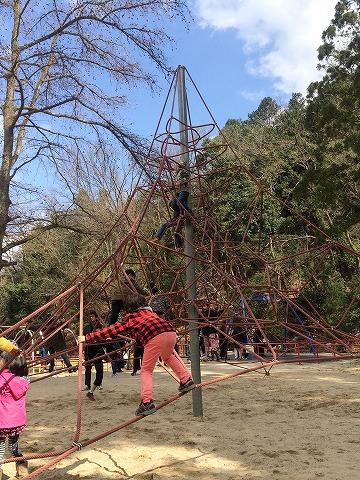 【宝ヶ池公園】子どもの楽園/ザイルクライミング