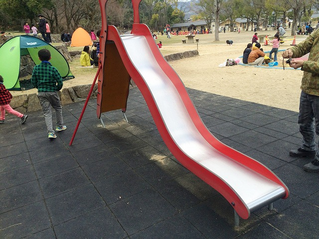 【宝が池公園】子どもの楽園/滑り台
