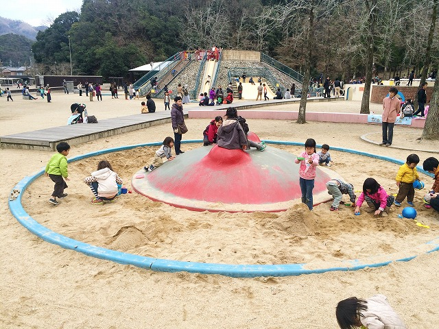 【宝ヶ池公園】子どもの楽園/砂場