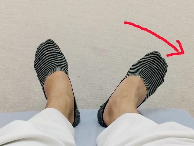 右足が開いている状態