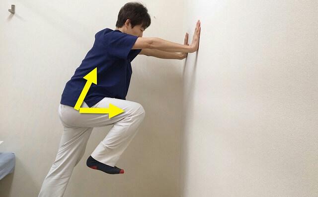 足はなるべく高く上げて腸腰筋も鍛える