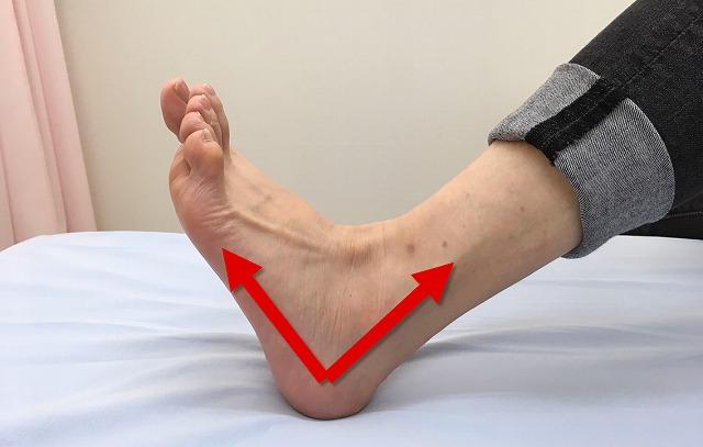 足首を直角に反らす