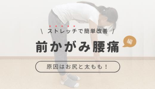 前かがみで痛い腰痛の原因はお尻と太ももの裏!すぐできる簡単ストレッチで腰痛撃退