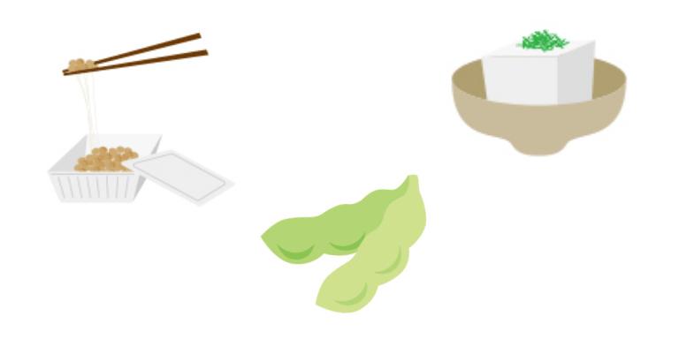 植物性タンパク質を持つ食品