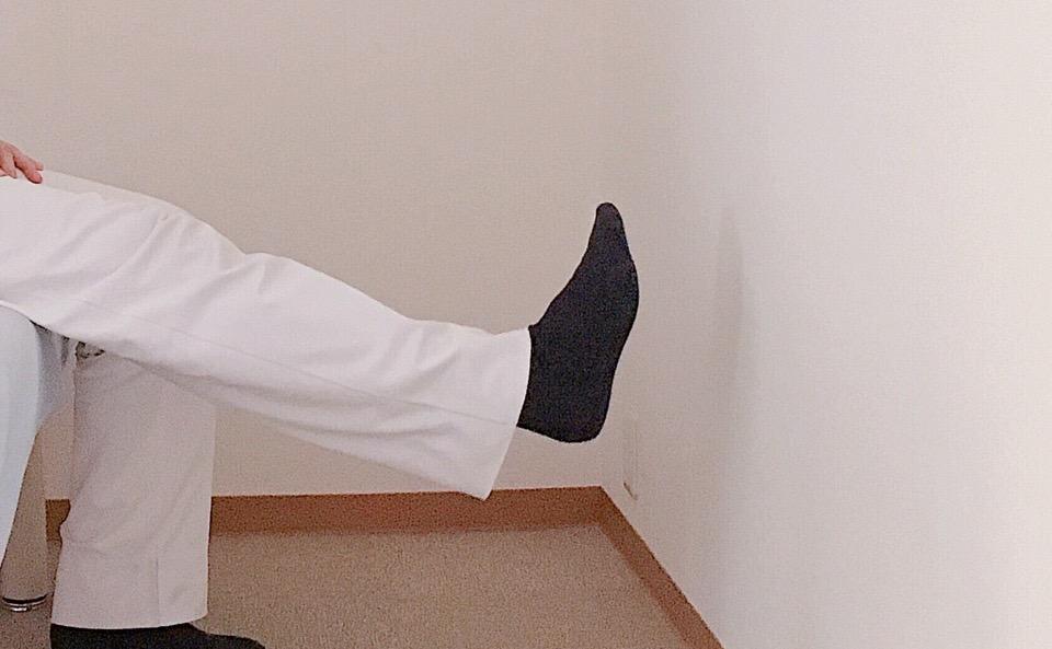 足首の角度は90度