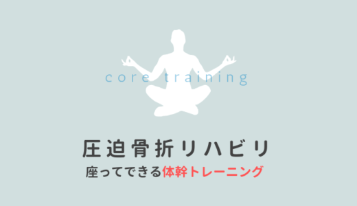 圧迫骨折【vol.2】座ってできるリハビリの方法!【目的:太ももと体幹を鍛える】