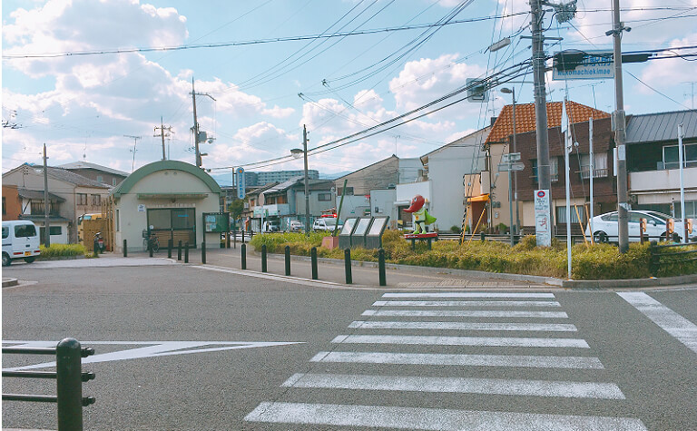 JR向日町駅前の風景