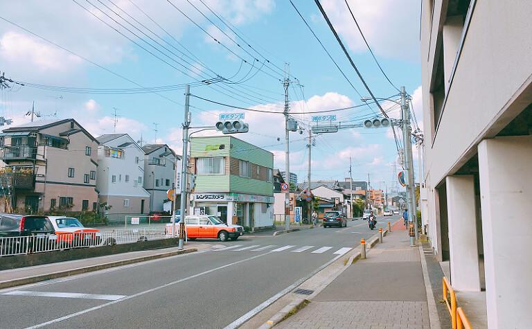 JR向日町駅北側の風景