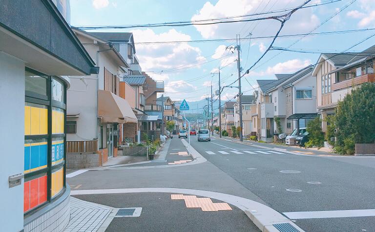 一本目の道の風景